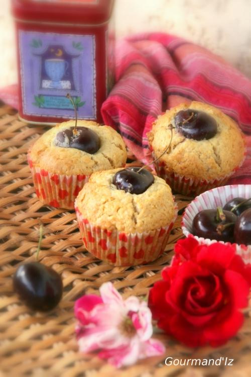 muffins,vanille,cerise