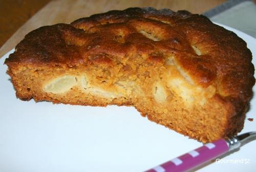 gâteau poire caramel, salidou, gâteau facile
