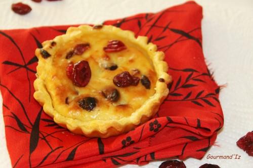 tarte ricotta, tarte cranberries
