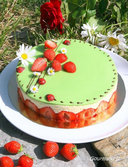 recette de fraisier, recette de crème mousseline, bonne recette de fraisier