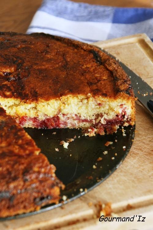 gâteau basque, cerise