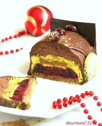 buche chocolat pistache