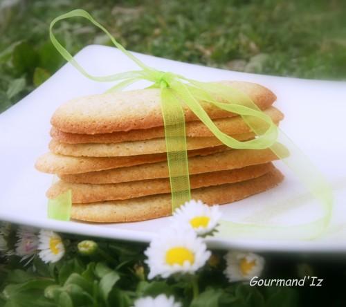 langues de chat, thé matcha, citron vert