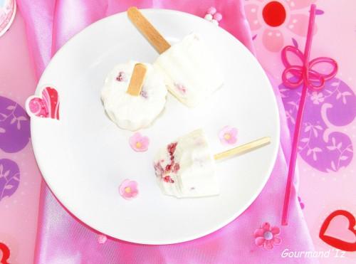 recette dessert glacé, sucette glacée, recette de lollipops, le camion du glacier, framboises