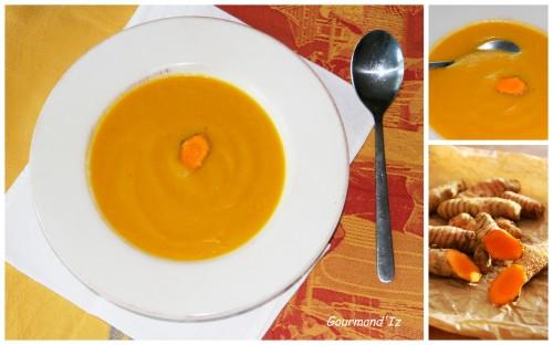soupe panais, soupe carottes, curcuma