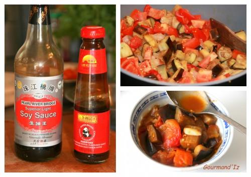 recette avec sauce d'huître, légumes sautés asiatique, aubergines sauce d'huître