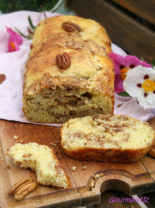 recette de brioche, brioche Christophe Felder, noix de pécan, cannelle
