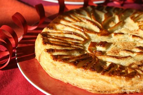 galette des rois, frangipane, pommes, ananas, pate feuilletée