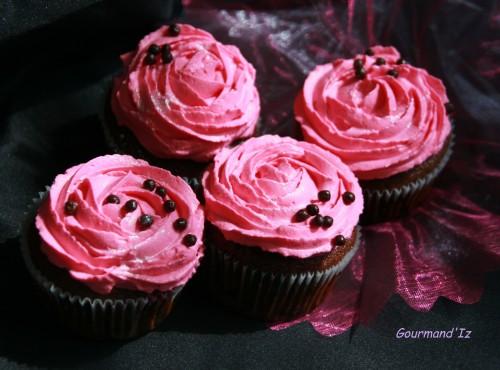 cupcakes chocolat rose