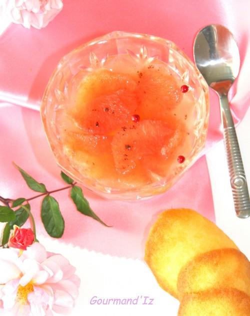 octobre rose,recette rose cancer du sein,salade de fruits,salade de pamplemousse,eau de rose