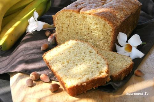 banana bread, noisettes, gâteau bananes