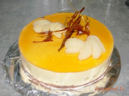 bavarois poire-caramel,