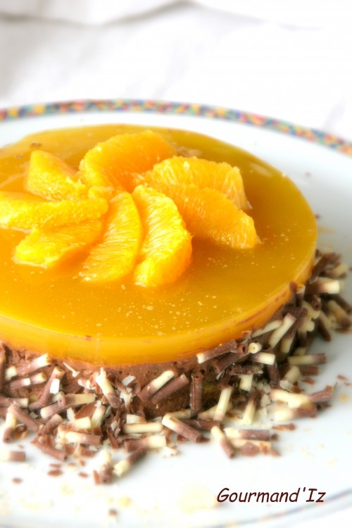 dessert ig bas, mousse chocolat orange, agar agar