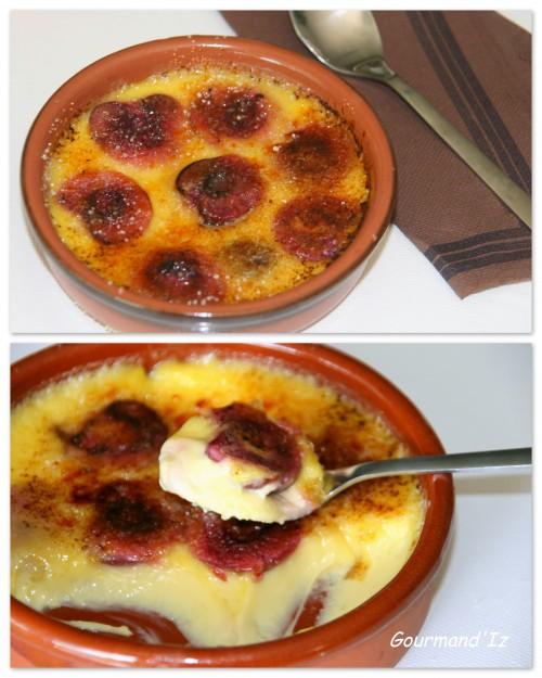crème brûlée, coco, cerise
