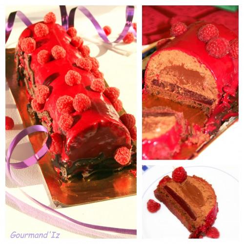 buche chocolat framboises