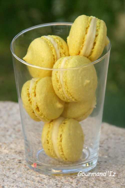 macarons, passion, curcuma 