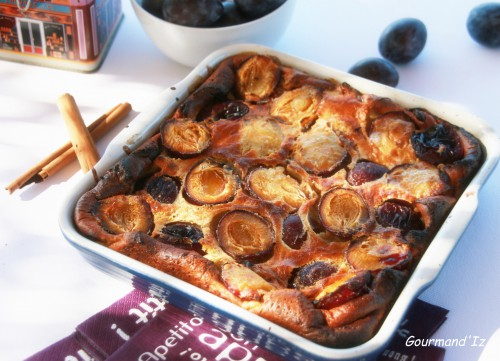 clafoutis, quetsches, cannelle,