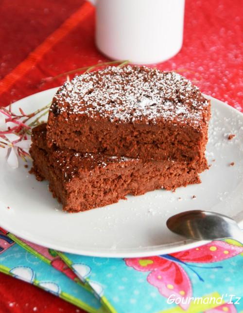 gateau chocolat vegan, chocolat et compote de pomme, chocolat et tofu soyeux