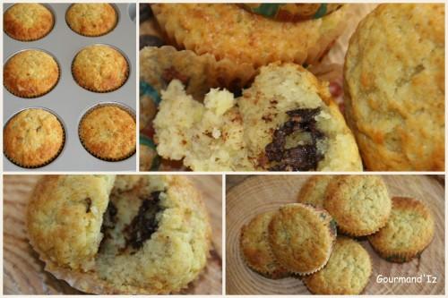 muffins,banane,chocolat