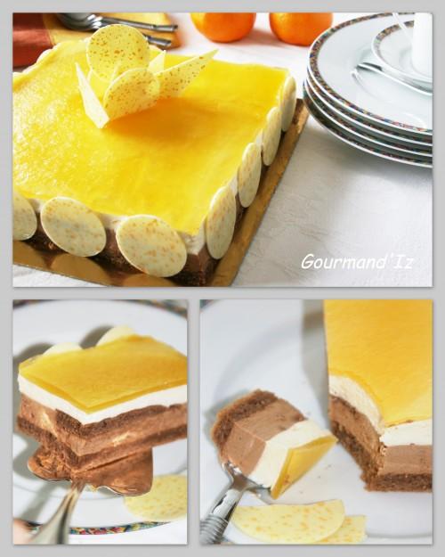 entremet caramelia, entremet mandarine