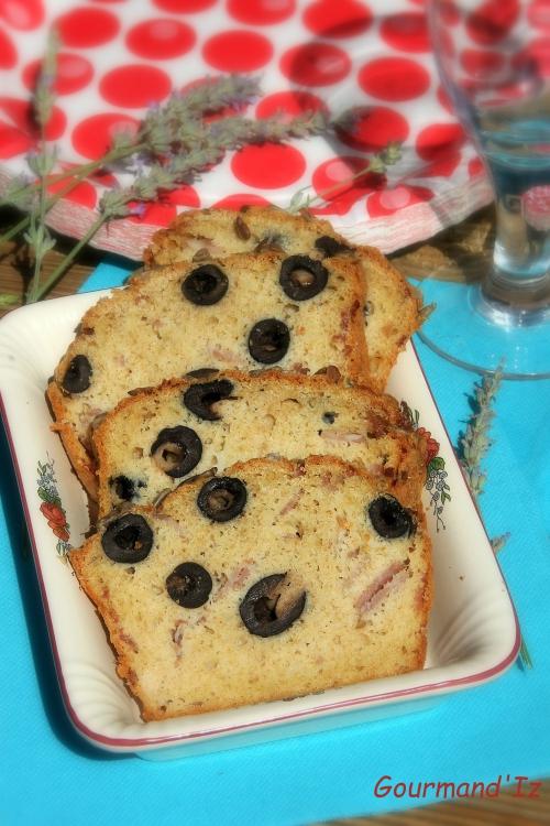 cake aux olives, cake au jambon, comté