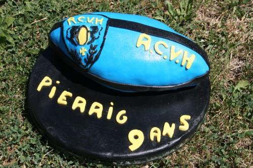 anniversaire, rugby, rcvh, cake design