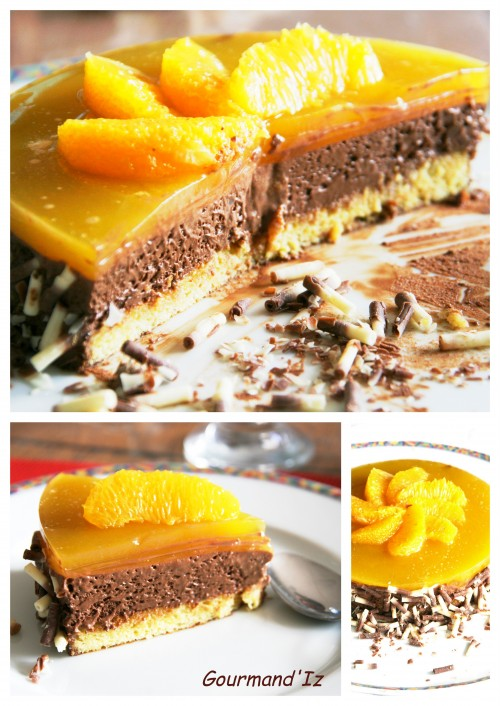 dessert ig bas, mousse chocolat orange, agar agar, gâteau chocolat orange