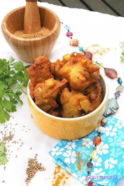 beignets aux oignons, pakora, recette de beignets indiens