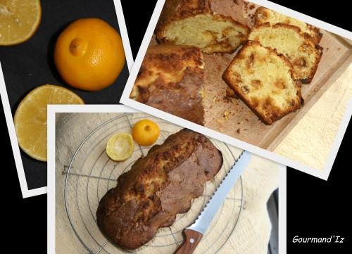 cake au citron, cake bergamote, écorce citrons confits