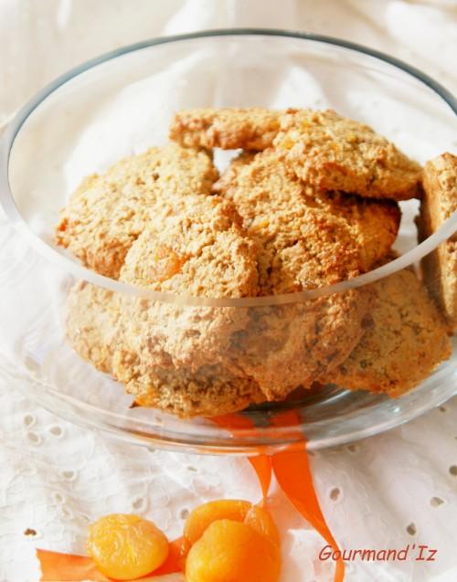 biscuit avoine, biscuit amandes, biscuit abricots