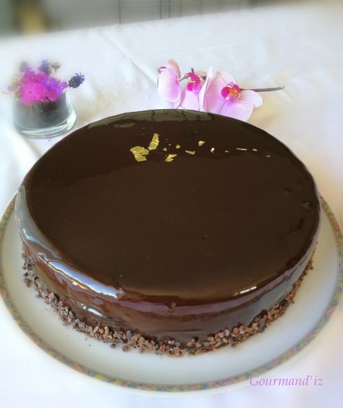 caraque, entremets chocolat, praliné