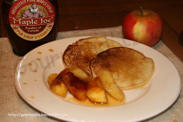 pancakes, pommes