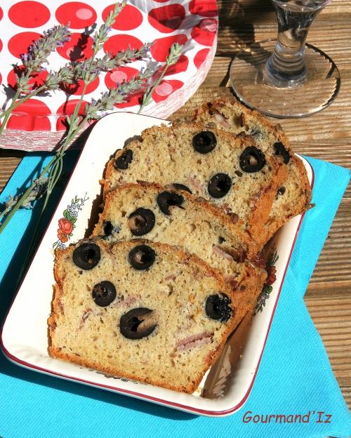 cake aux olives, cake au jambon, cake au comté