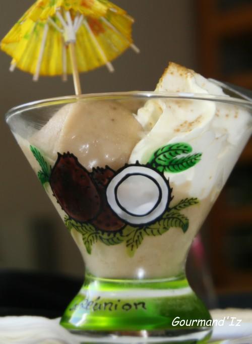 glace banane, glace coco, glace banane coco, glace banane facile