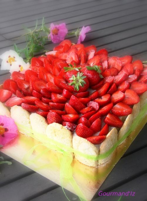 entremet mascarpone fraise