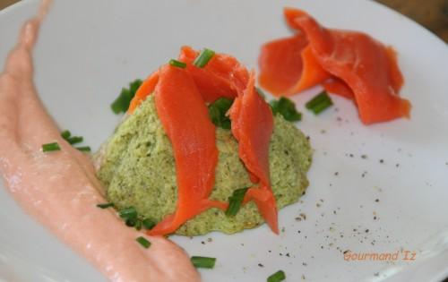 mousse,courgettes,saumon fumé