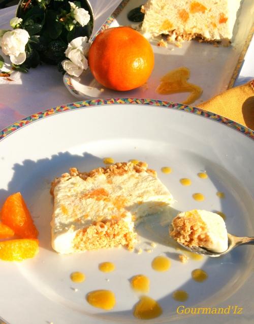 dessert glacé, parfait glacé, recette de glace, parfait à la mandarine