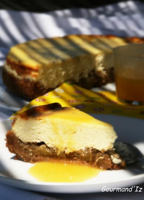 recette de cheesecake, rhubarbe, ananas, philadelphia