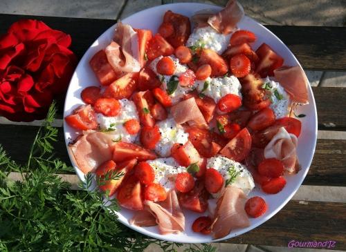 salade tomate mozzarella, burrata, salade mozarella originale, mozarella fraises,