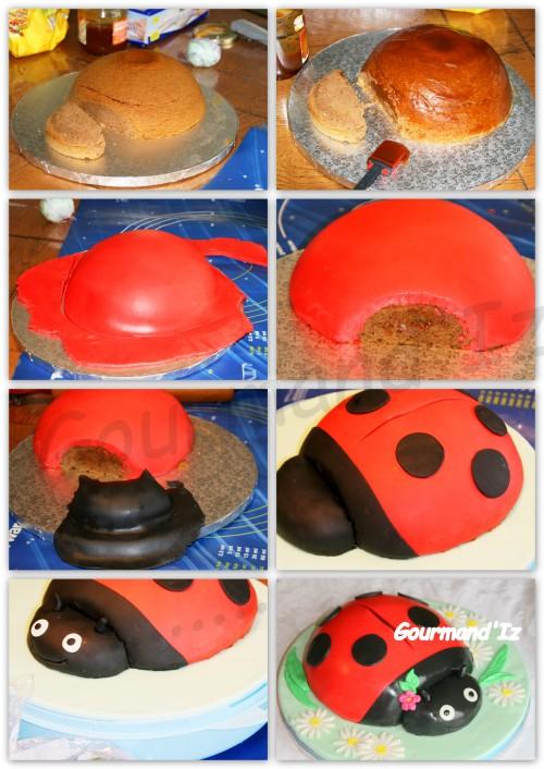 Ladybird 3D, ladybird cake, coccinelle 3D, gâteau coccinelle