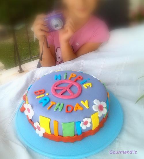 hippie cake design, gâteau damier