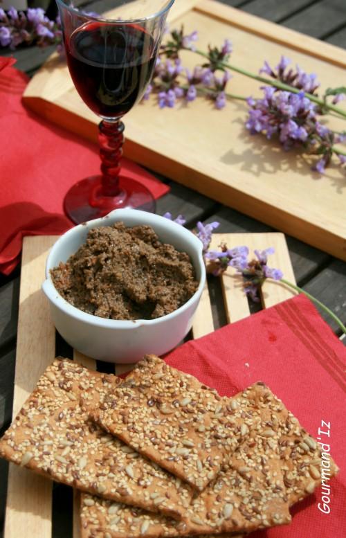 recette de tapenade, tartinade olives, olives noires, thon