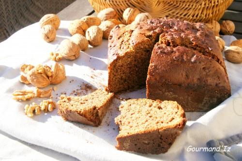 gateau aux noix, noix, pâte de noix, farine de kamut