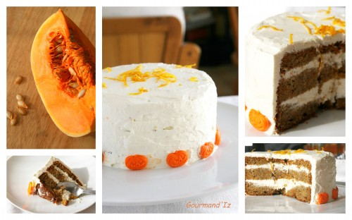 Pumpkin layer cake, gâteau à la citrouille, gâteau à la courge