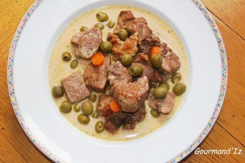 recette de sauté de veau, veau aux olives