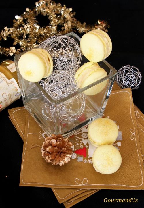macarons, macarons calisson, ganache chocolat blanc, ganache calisson, crème de calisson