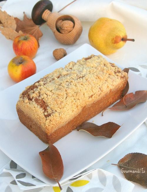 cake, crumble , poire, pomme, ottolenghi