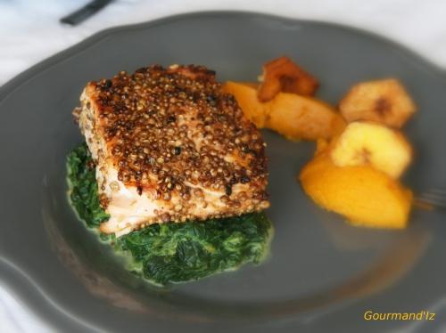 recette de saumon pané, saumon pané aux épices