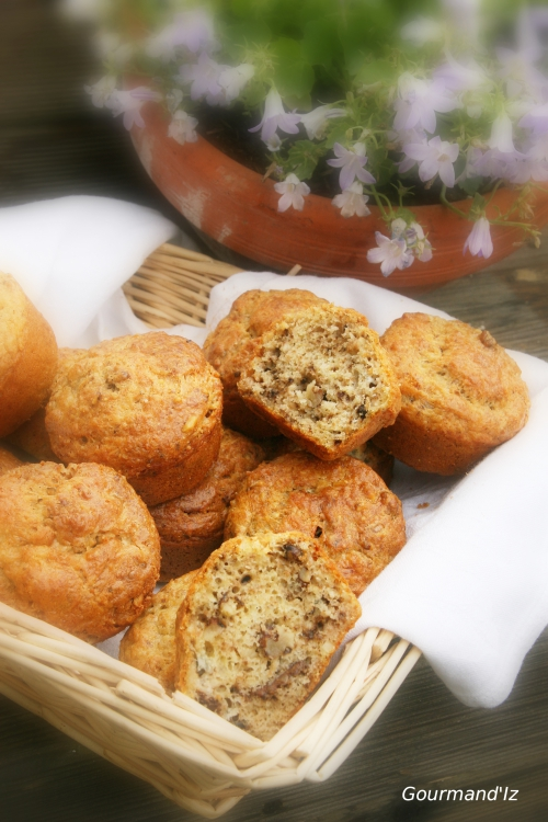 muffins roquefort et noix, muffins salés