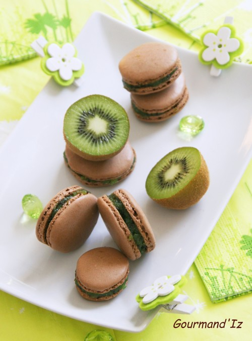 macarons kiwi,